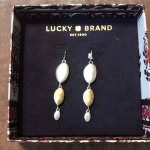 Kate spade silver and gold dangle earrings